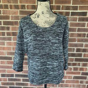 Like new J. Crew herringbone print sweatshirt